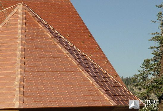 Copper Shingle Copper Roof Cottage Exterior Metal Roof