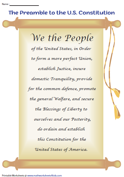 7 Principles Of The Constitution Worksheet Answers - worksheet