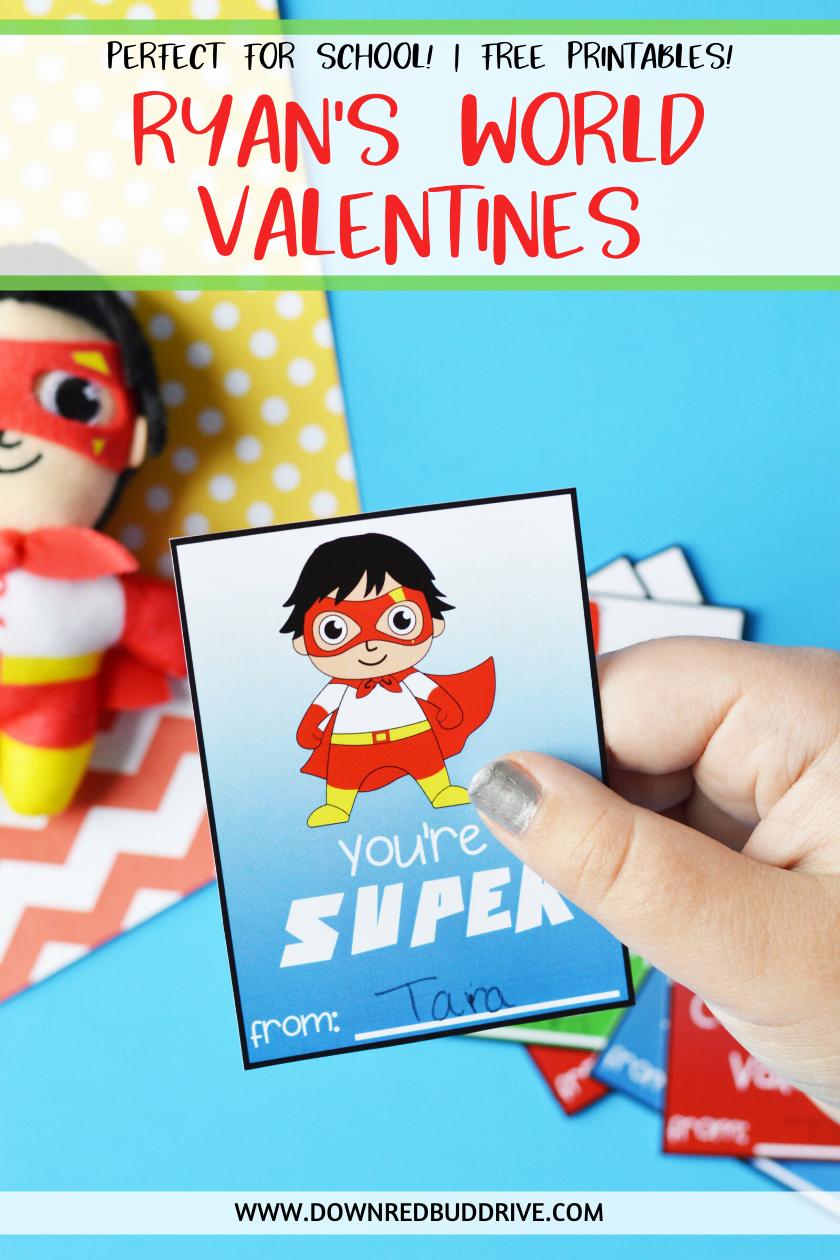 Ryan S World Free Printable Valentines In 2020 Valentines Printables Free Valentines Printables Ryan Toys