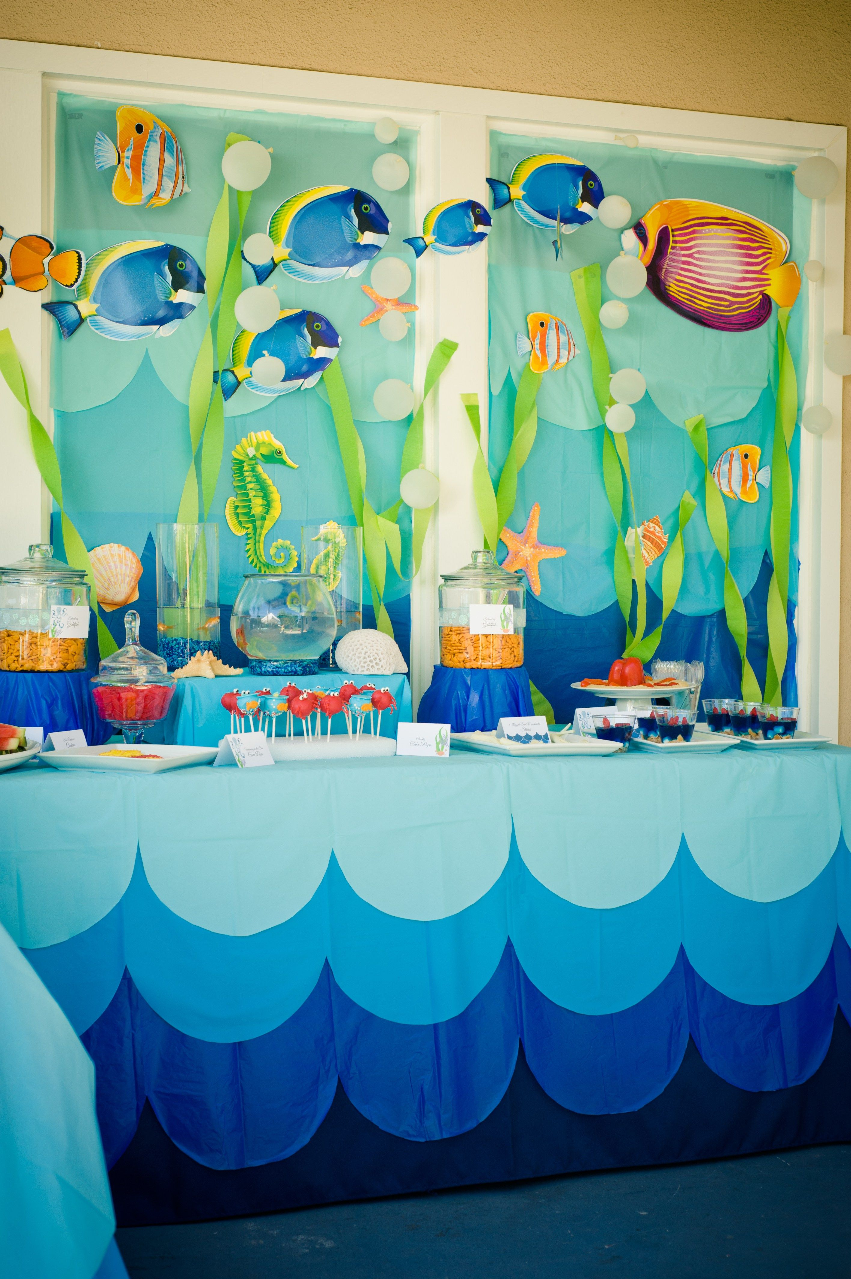 Marigold Mom Under The Sea Water Party Summer Party Goldfish