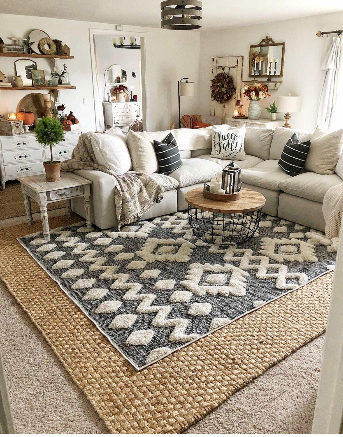 Doran Basketweave Jute Rug Rugs In Living Room Layered Rugs Living Room Home Decor