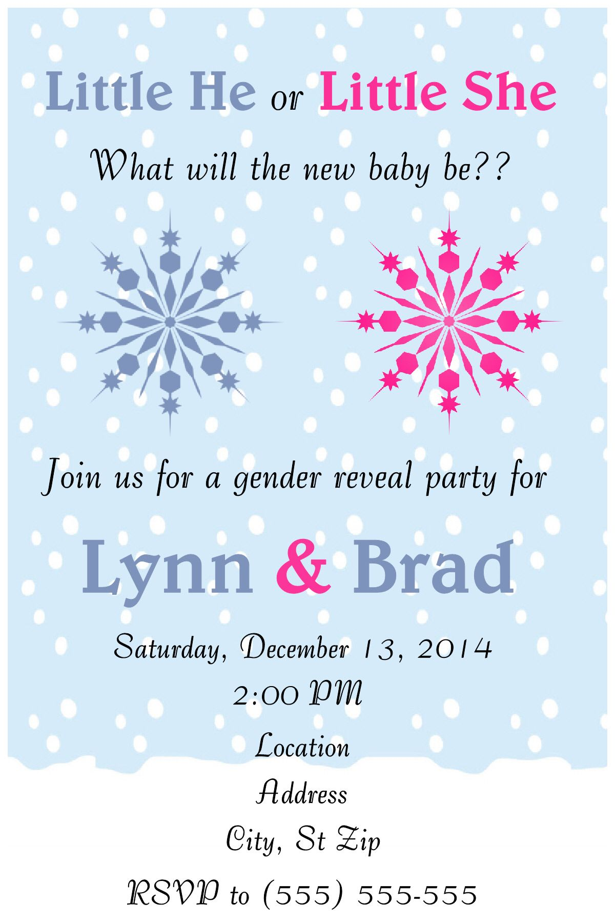 GENDER REVEAL BABY SHOWER INVITATION TO FOLLOW ME ON FB PLEASE