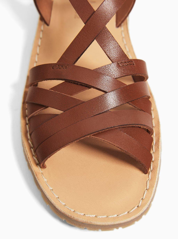Skorzane Sandaly Z Paskami Skora Dziewczynka Buty Dzieci Zara Polska Leather Sandals Leather Sandals