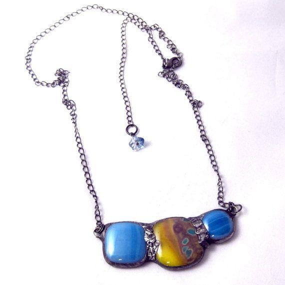 Mini Urban Artifact  fused glass asymmetrical by groovyglassgirl, $30.00