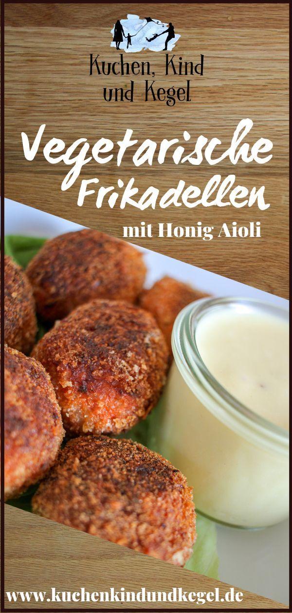 Vegetarische Frikadellen mit Honig Aioli #vegetarischerezepteschnell