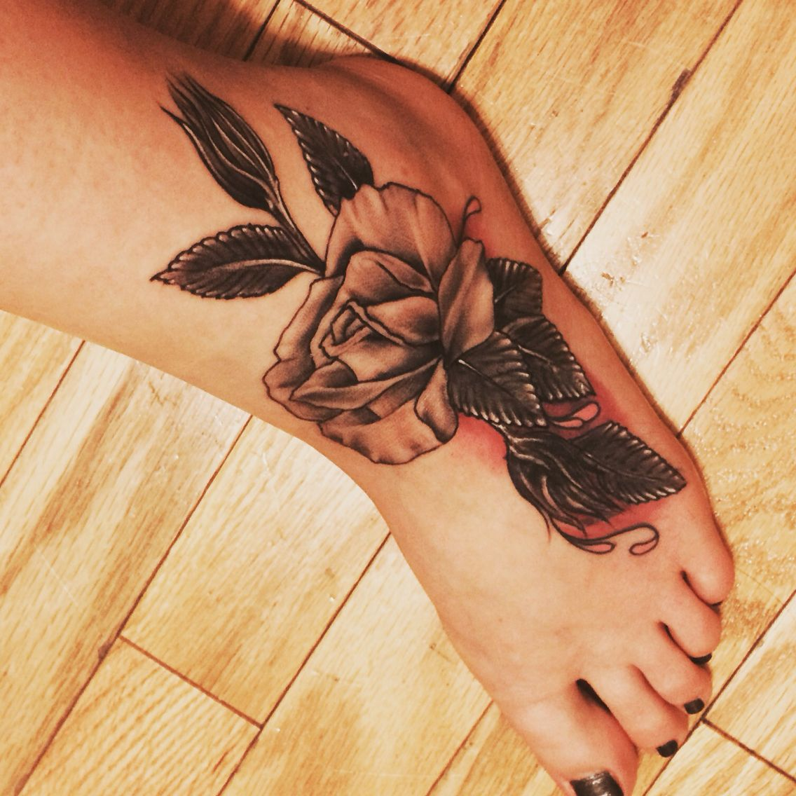 Foot tattoo. Cover up. Roses. Girly! Cover up tattoos