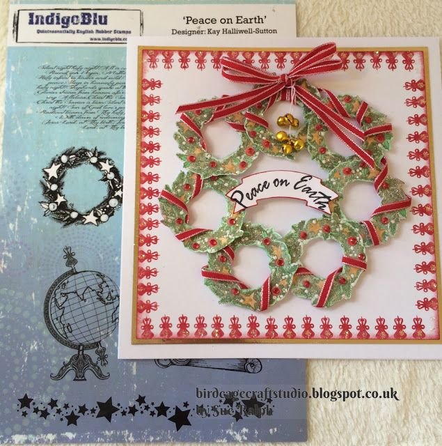 Birdcage Craft Studio Mini Wreath's Christmas Card