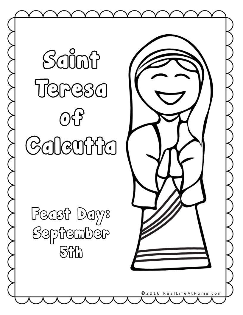 Saint Teresa of Calcutta Printables Packet | Religious education
