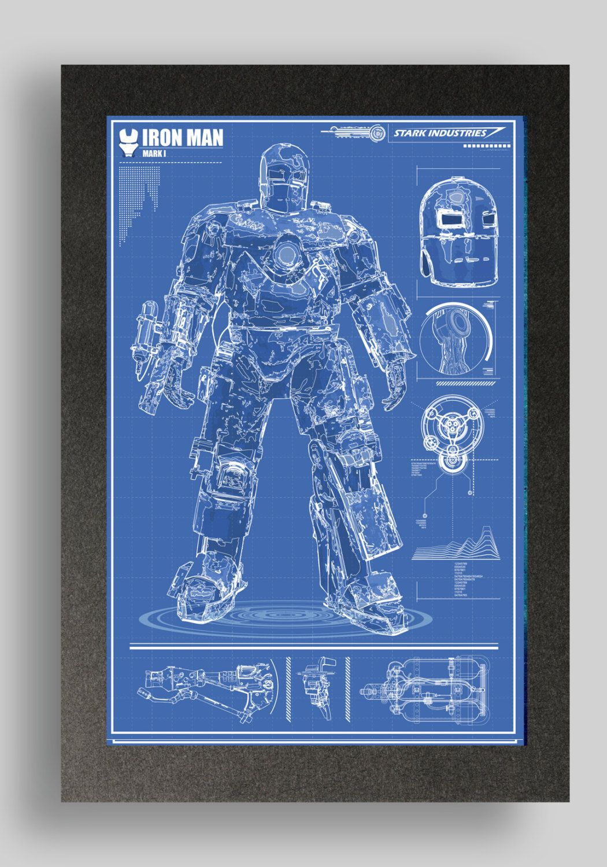 Iron Man Armor Blueprints Iron Man Mark 1...