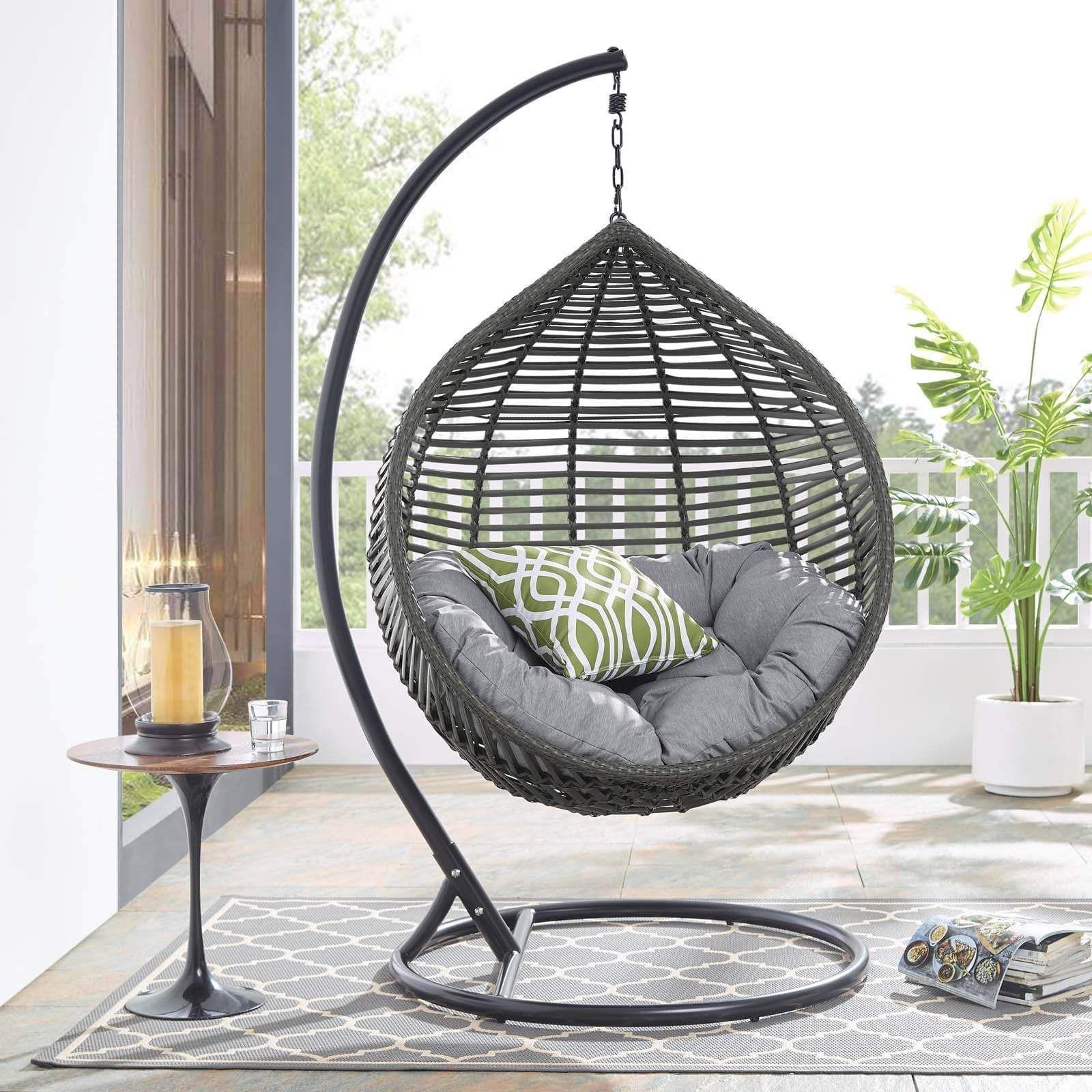 Modway Garner Teardrop Outdoor Patio Swing Chair Patio Swing Chair Outdoor Patio Swing Swing Chair Outdoor Outdoor patio swing chair