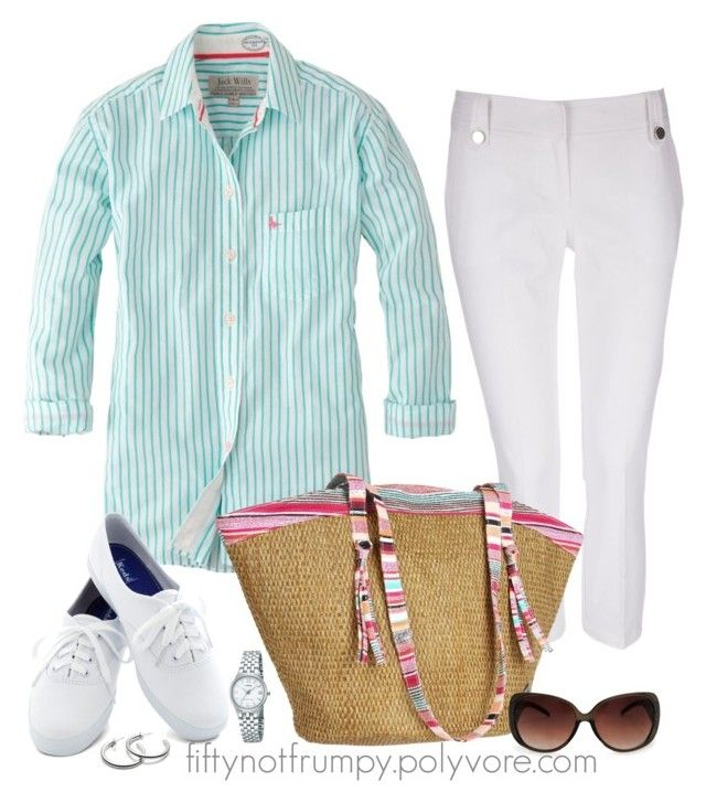 """""""Summer Fun"""" by fiftynotfrumpy ❤ liked on Polyvore featuring Jack Wills, Wallis, Keds, Roxy, MANGO, Coach and Lorus"""