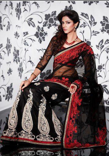 Elegant black color lehanga style saree from kopanaa | Lehenga style saree, Indian dresses ...