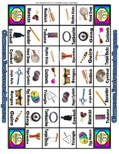 Classroom Instrument Game Based On The Sequence Helps Students Learn Names Of Instruments Found In