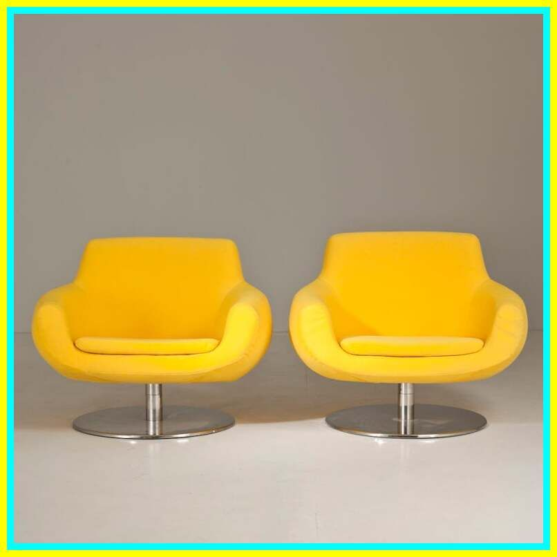yellow swivel chair cover