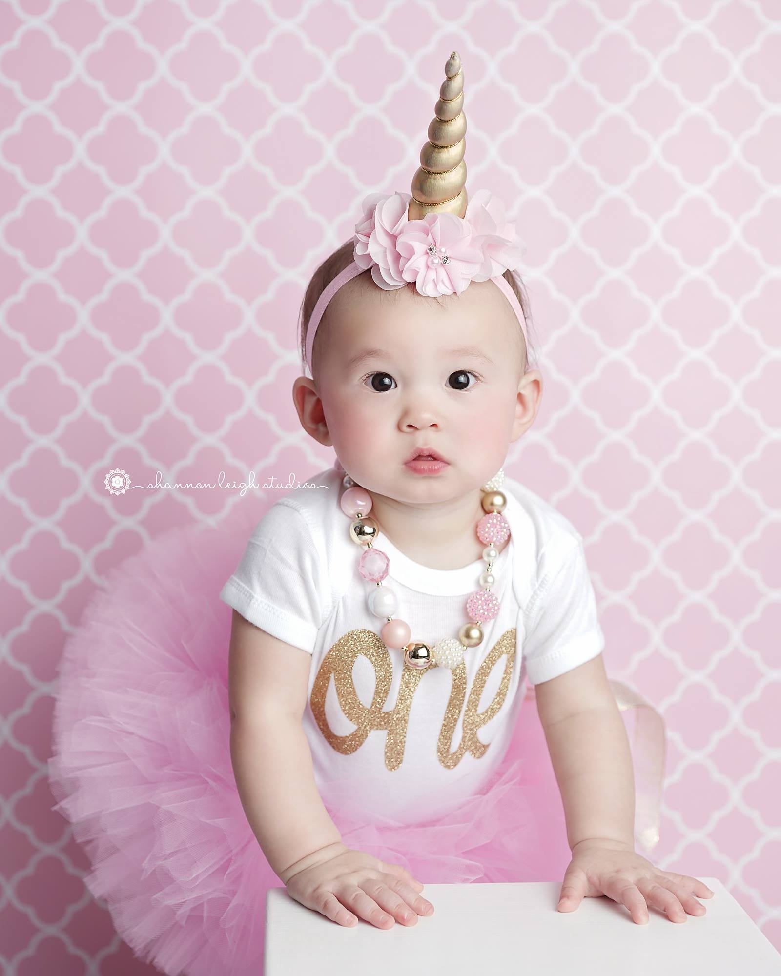 Unicorn FIRST BIRTHDAY OUTFIT Cake Smash Outfit Birthday Girl Tutu Set 1st By LilPinkGoose On