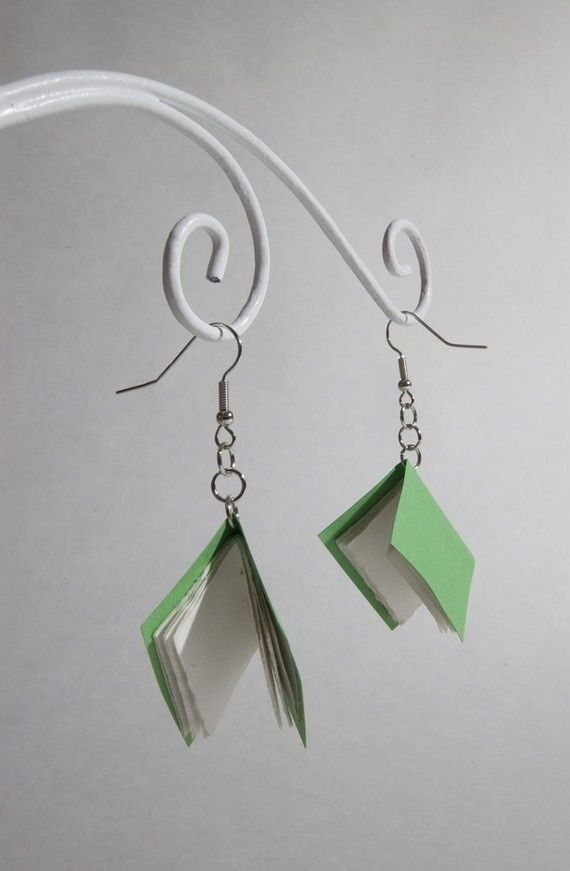 how to make easy paper jewellery
