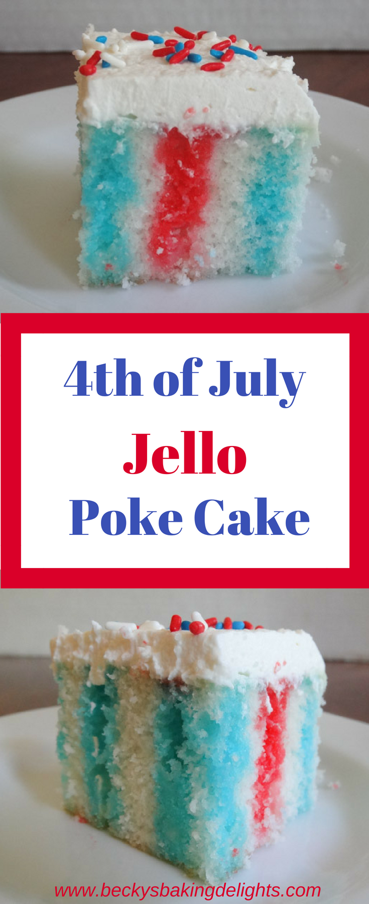 Poke Cake This colorful jello poke cake is a great addition for a Summer dessert. Simple to make and taste great.This colorful jello poke cake is a great addition for a Summer dessert. Simple to make and taste great.
