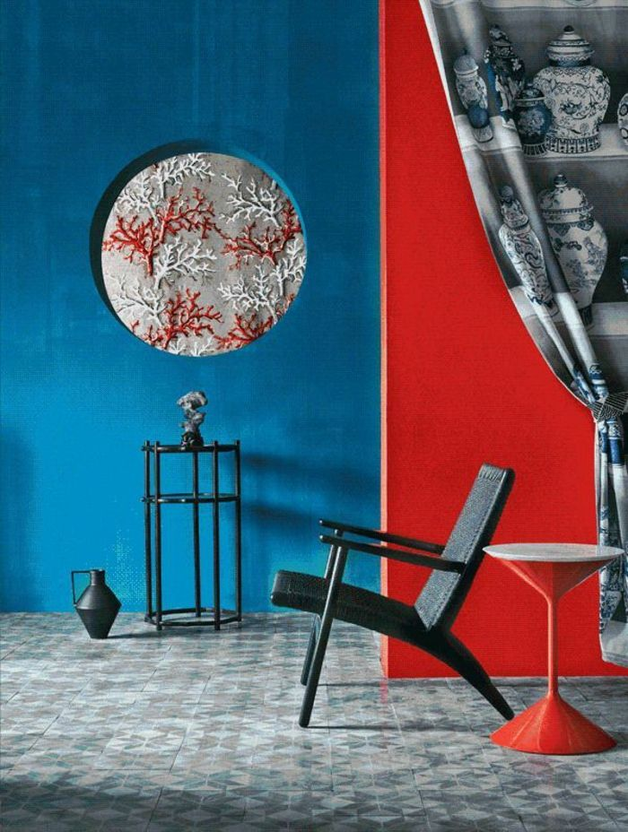 Welche Farbe Passt Zu Dunkelblau : 1001 ideen zum thema welche farbe passt zu rot innenarchitektur asiatische inneneinrichtung ~ Watch28wear.com Haus und Dekorationen