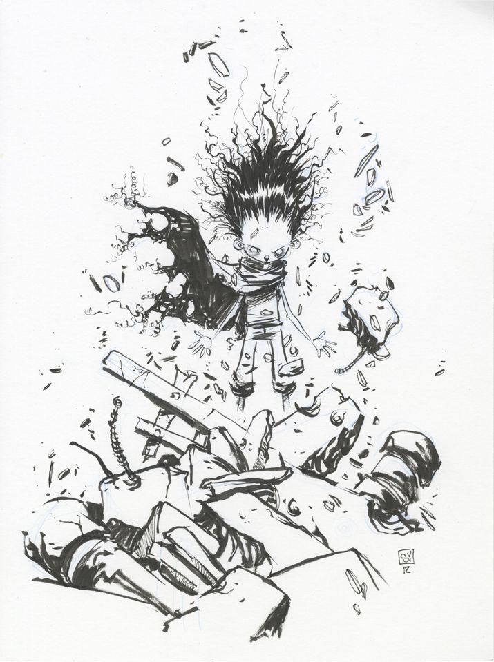 Skottie Young is the bestest.  Akira Sketch via *skottieyoung on deviantART