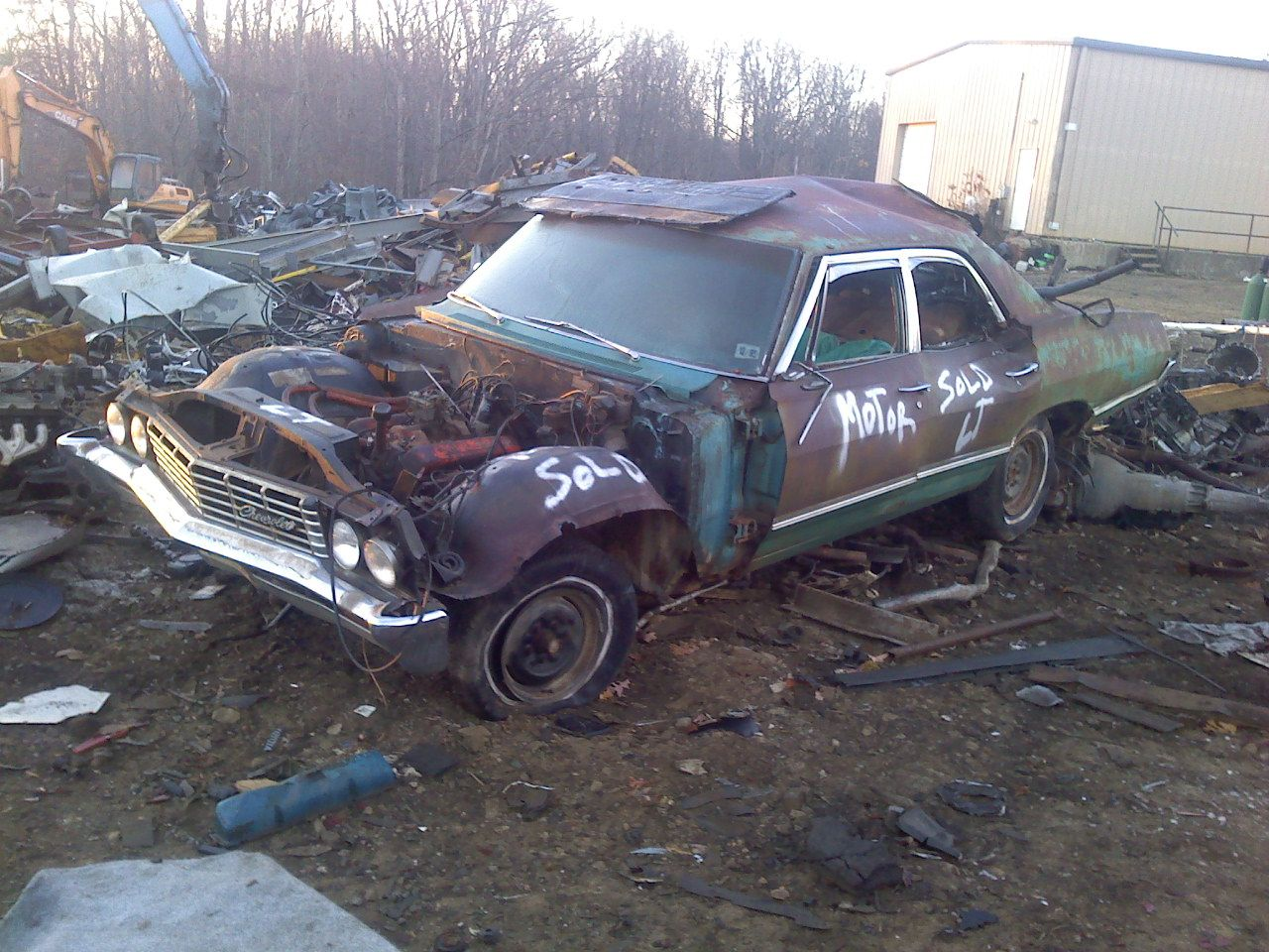1967 Chevrolet Impala sedan with 283/pg. I wanted to buy this car so ...