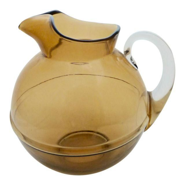 Image of Mid-Century Glass Water Pitcher