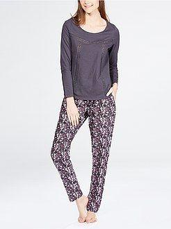 Pijama Kiabi Pantalón Vaporoso Con Estampado PijamasBabydoll l5uJcFKT13