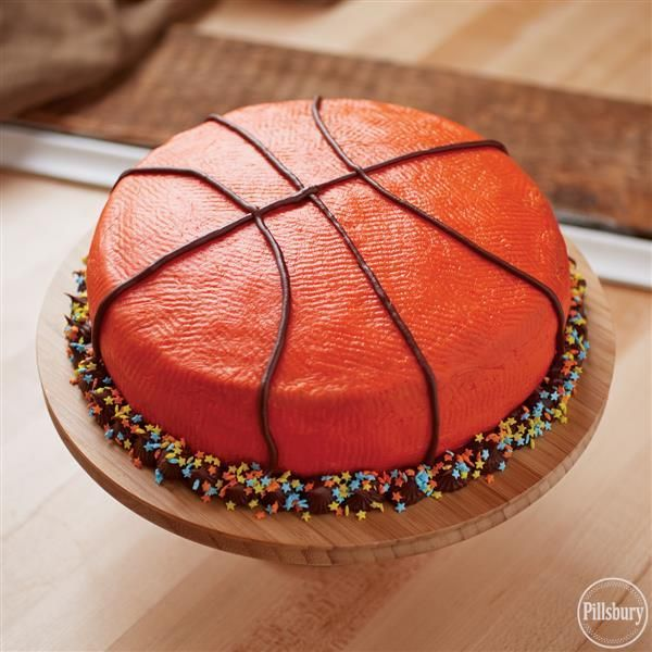 This All Star Basketball Cake From Pillsbury Registered Will Make You The All Start Of Your Next Bir Basketball Cake Basketball Birthday Cake Basketball Party