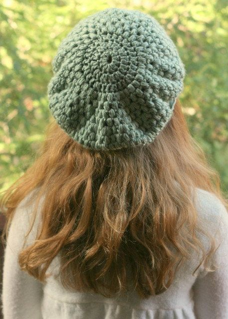 OOAK Delicate Seafoam Green Puff Stitch by WarmandCozyCrochet, $20.00
