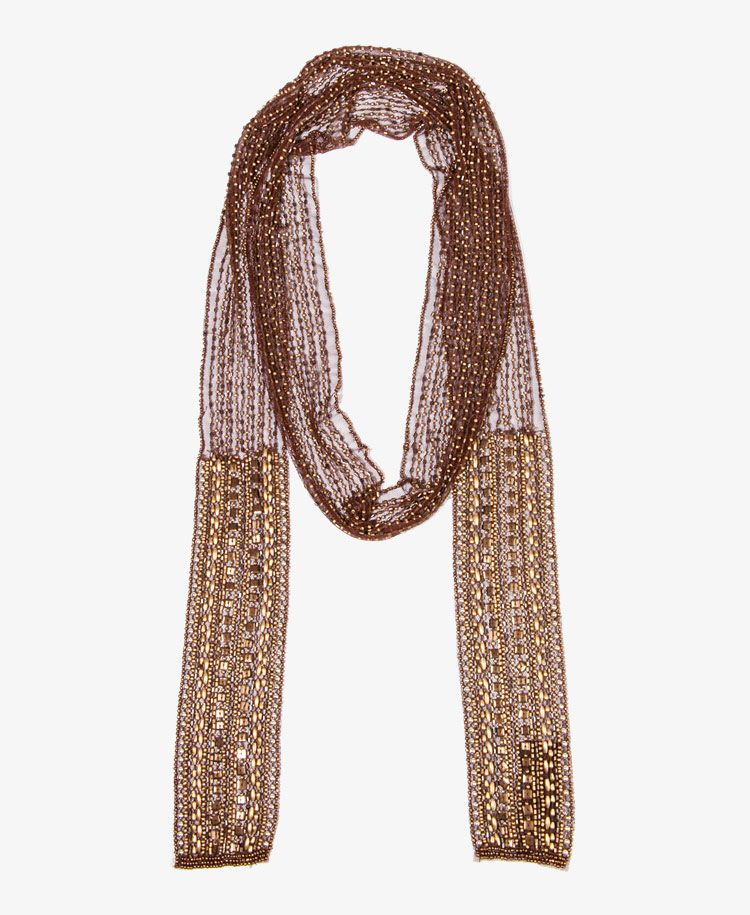 beaded mesh scarf forever21 1030187758 confessions