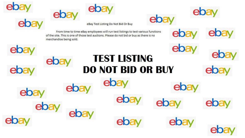 DO NOT BID OR BUY153189429732 Test listing