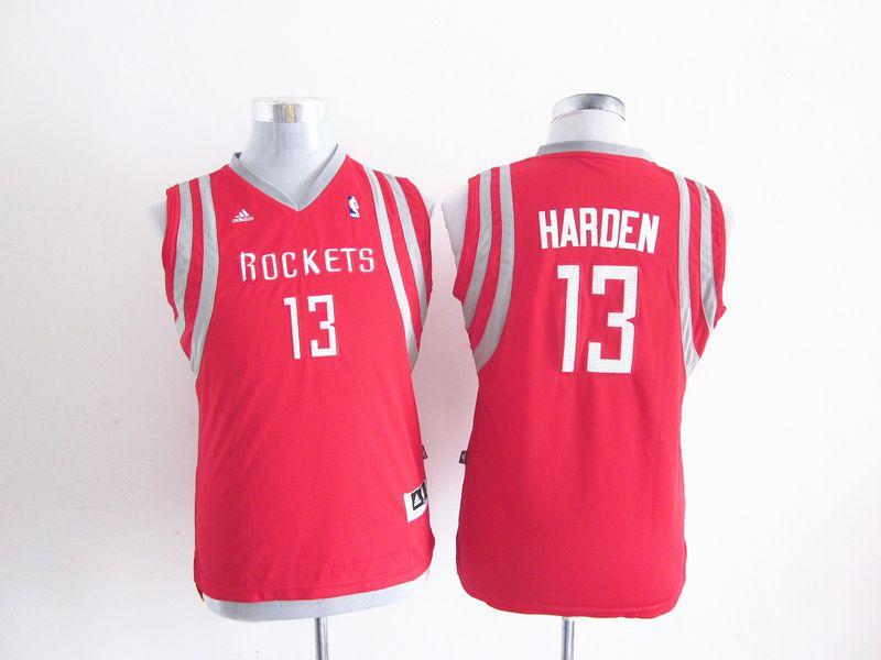 f0a720e9a462 Adidas NBA Kids Houston Rockets 13 James Harden New Revolution 30 Swingman  Youth Red Jersey