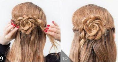 Peinados fáciles y cabello semi recogido con trenzas ~ Manoslindas.com