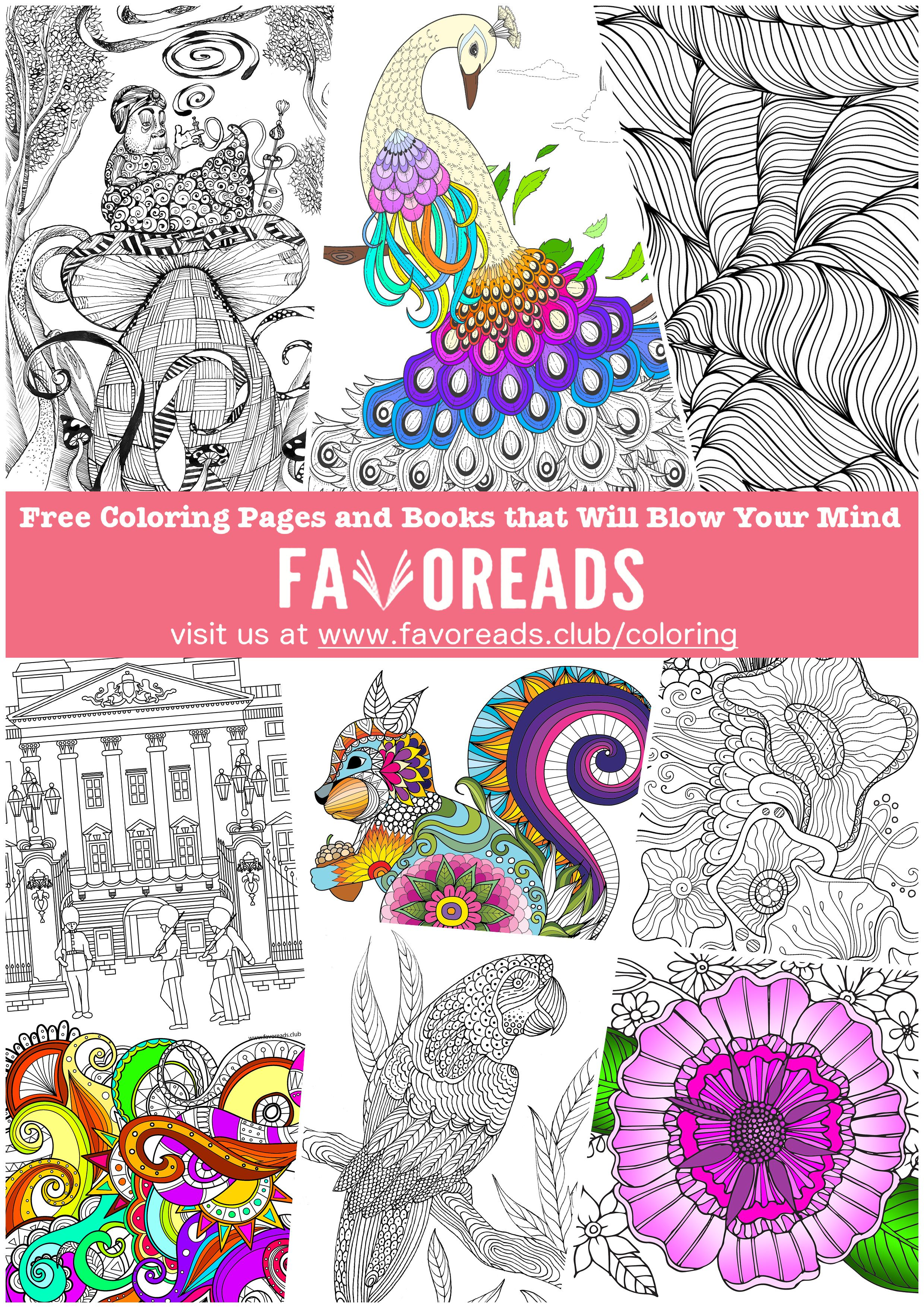 Free Adult Coloring Pages And Books At Favoreadsclub