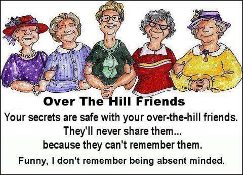 Over The Hill Friends Over The Hill Woman Quotes Old Lady Cartoon