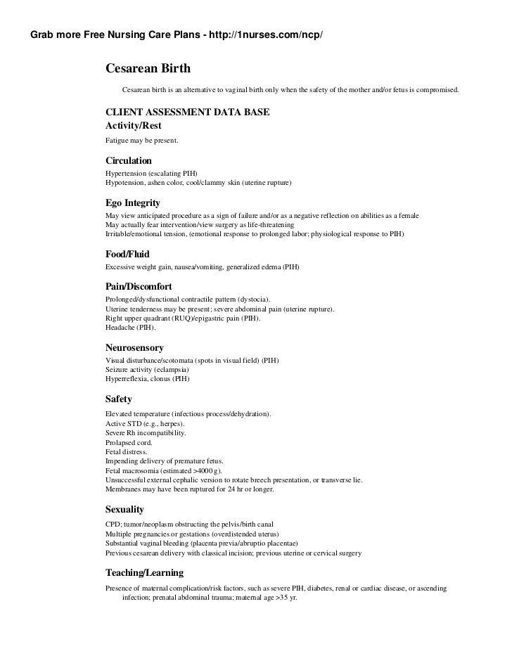 Grab more Free Nursing Care Plans - http\/\/1nurses\/ncp - nursing care plan example
