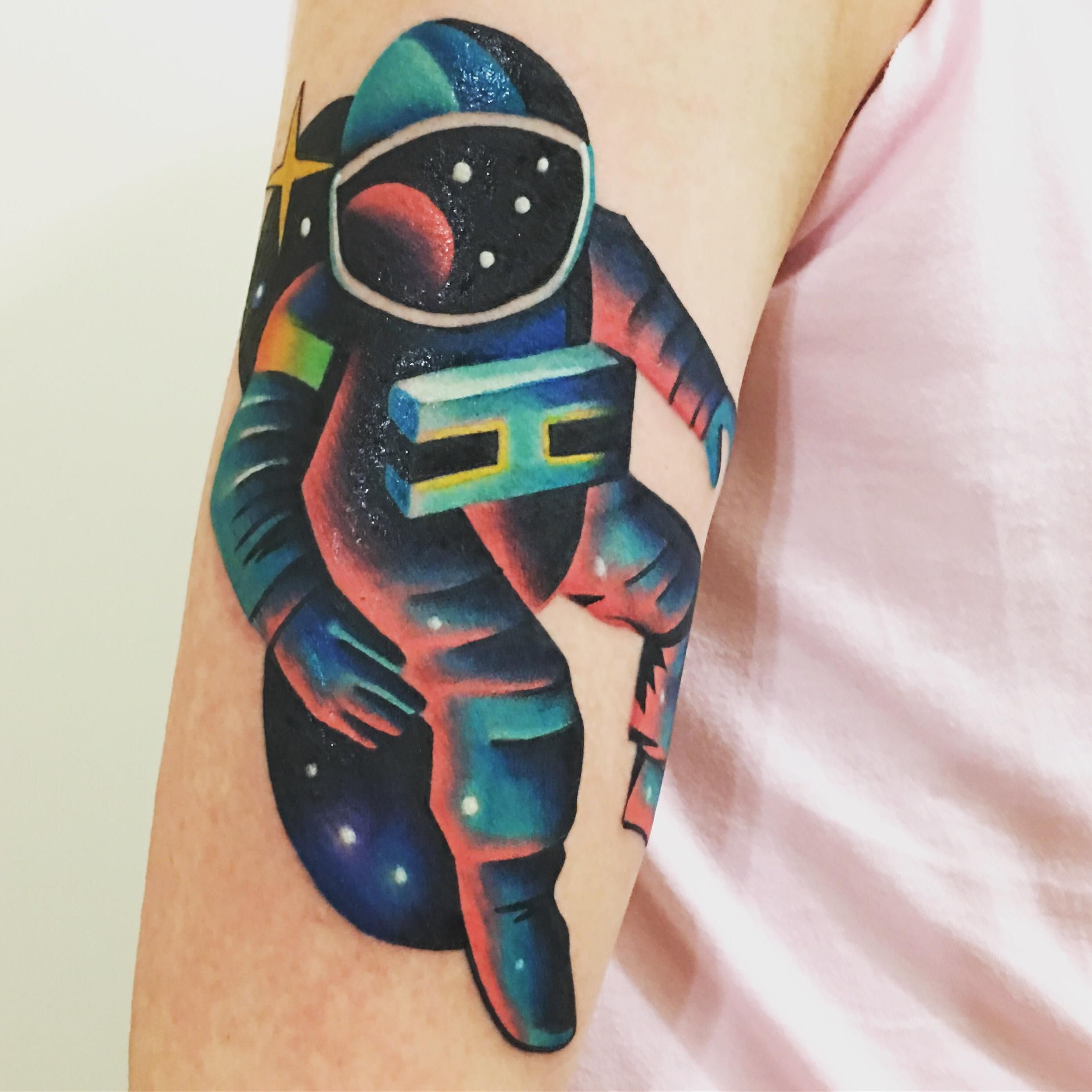 Astronaut done by david cote at imperial tattoo connexion
