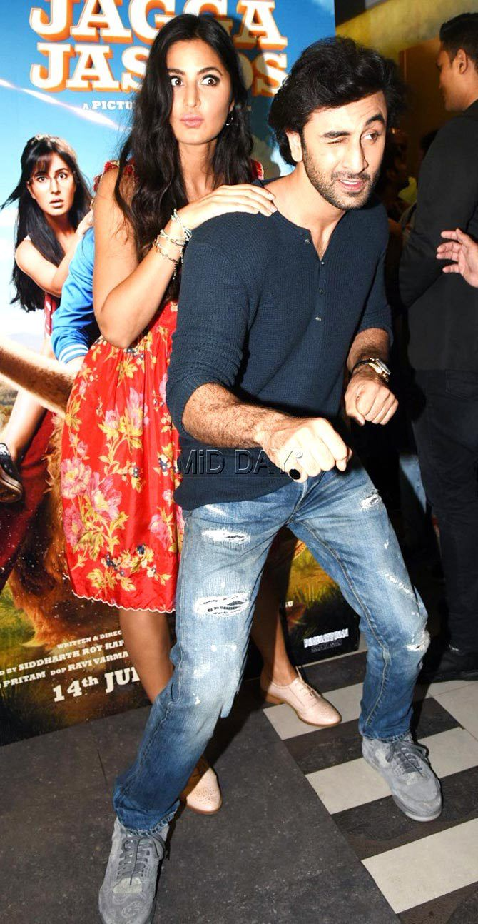 Photos Ranbir Kapoor And Katrina Kaif Promote Jagga Jasoos Entertainment Bollywood Couples Bollywood Celebrities Katrina Kaif