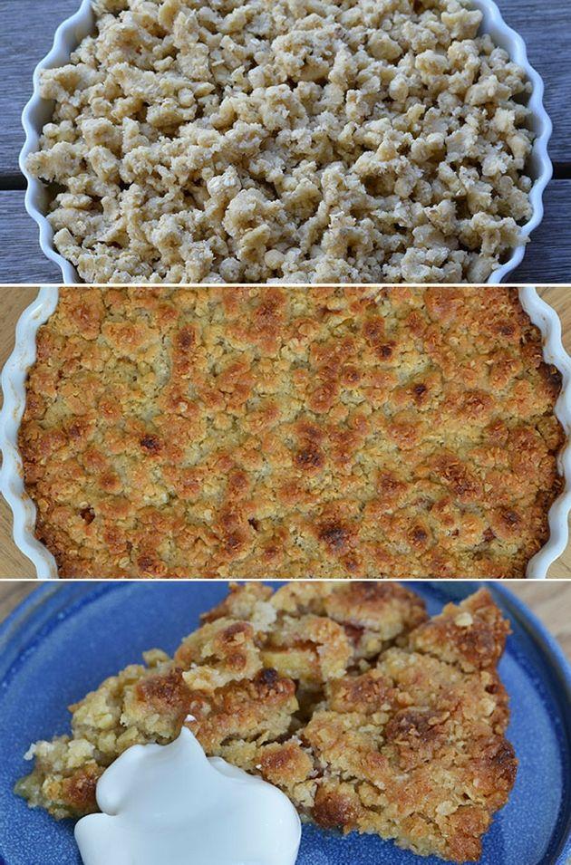 Nem æbletærte med kanel og smuldredej | Opskrift i 2019 | Lækre kager | Pinterest