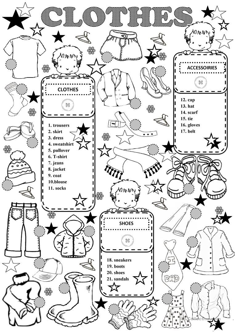 CLOTHES worksheet - Free ESL printable worksheets made by ...