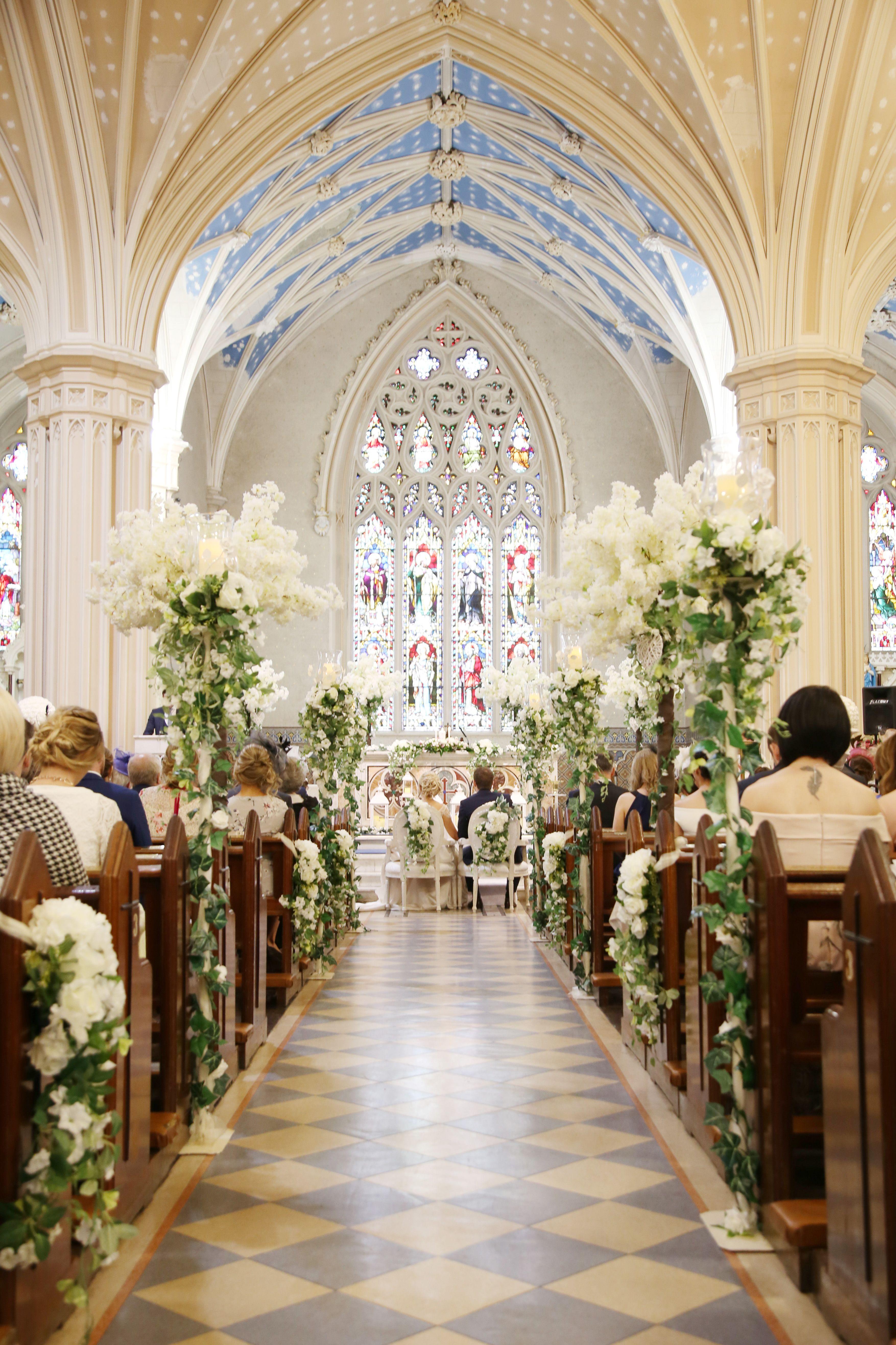 P I N T E R E S T Letty Wedding Chapel Decorations Wedding Aisle Decorations Church Wedding Decorations