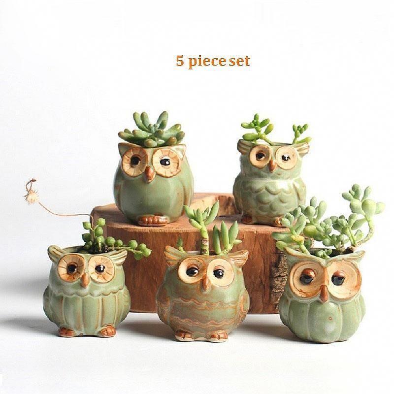 Cartoon JARDINIERE maison succulentes Décoration Pot de fleur Craft Conteneur De Bureau