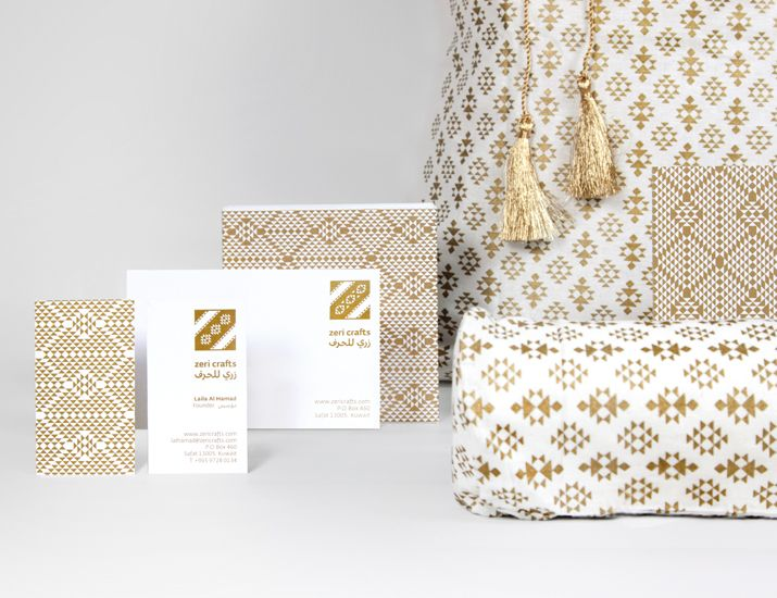 Branding y packaging para la marca Zeri Crafts de Kuwait