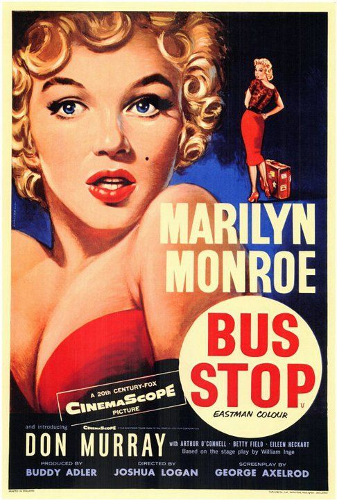 old hollywood movie posters | classic hollywood marilyn monroe bus stop colour movie star hollywood