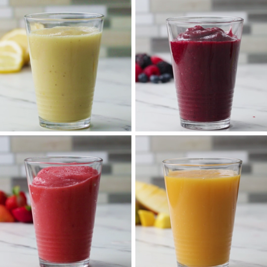Frozen Lemonade 4 Ways #frozenlemonade