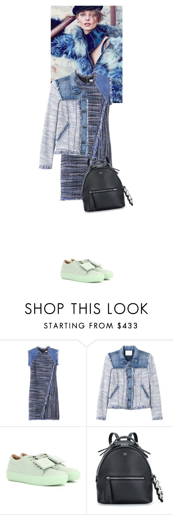 """""""Elizabeth Nyx #5240"""" by canlui ❤ liked on Polyvore featuring Rebecca Taylor, Acne Studios, Fendi, women's clothing, women, female, woman, misses, juniors and tweed"""