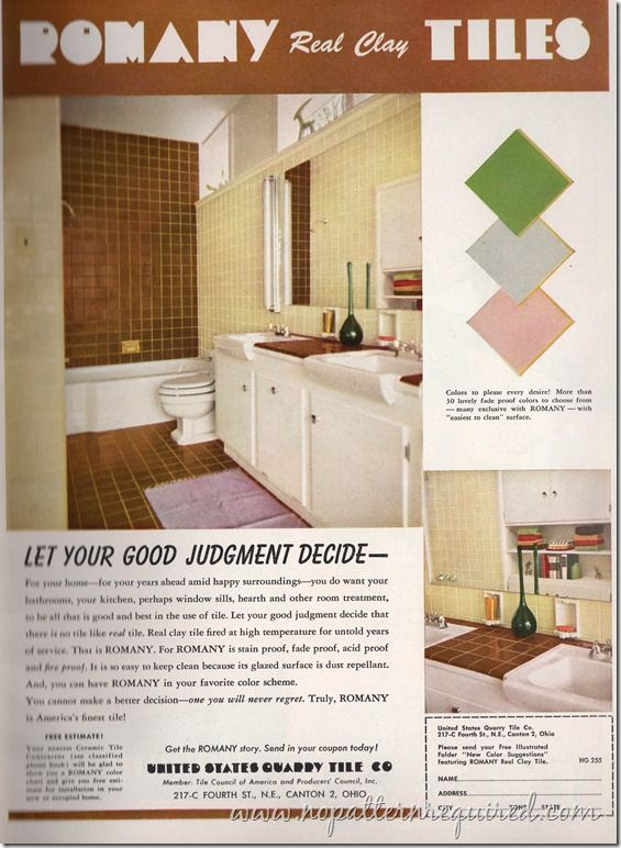 Romany Real Clay Tiles House & Garden Feb 1955001