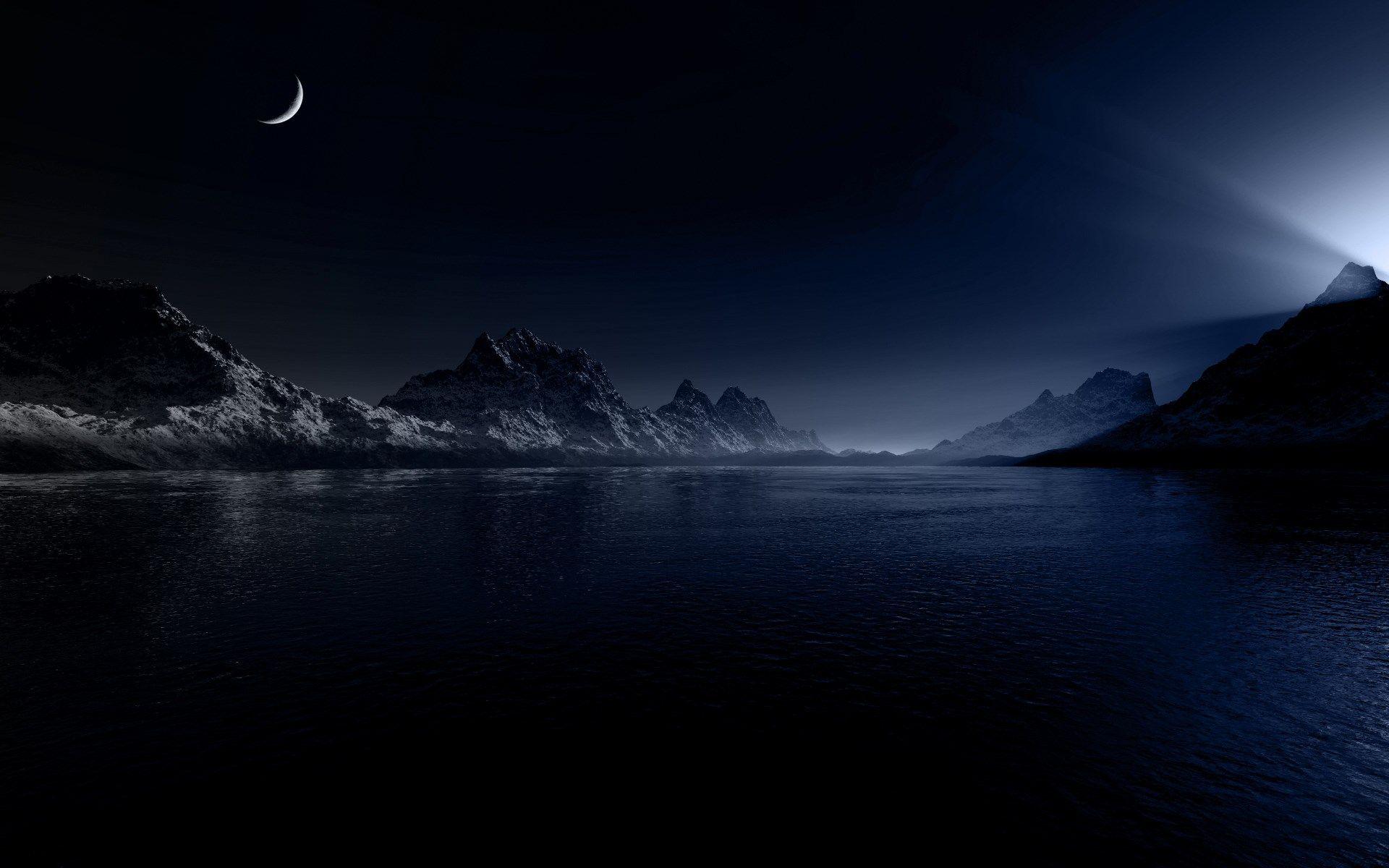 Night Sky Free Desktop Backgrounds For Winter Dark Landscape Landscape Wallpaper Night Landscape