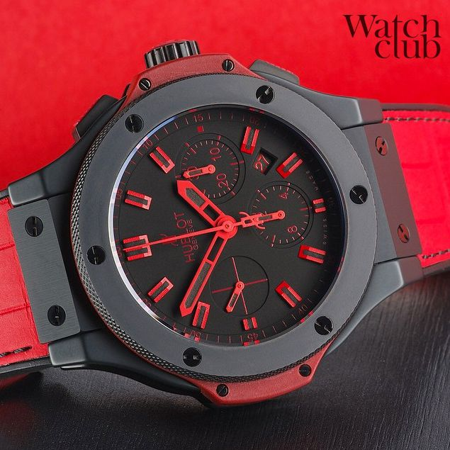 c59764479 Limited edition  Hublot All Black Red