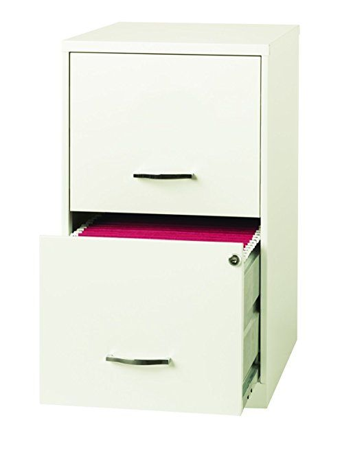Amazon Com Space Solutions 2 Drawer File Cabinet 18 Inch Deep Pearl White Home Amp Kitchen Filing Cabinet Metal Filing Cabinet Office File Cabinets