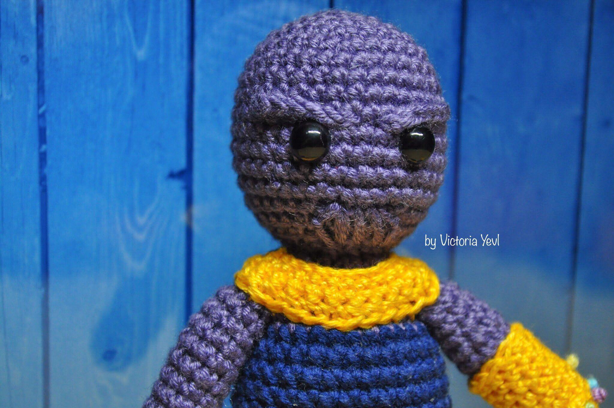 Thanos crochet amigurumi toy - avengers infinity war, end